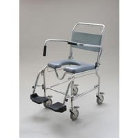 Aspire Transporter Commode Chair - 46cm - Footplate inclusive of padded seat