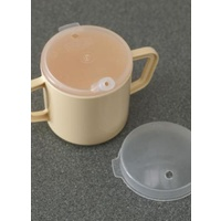 Mug Two Handled With Two Lids (pack Of 2)